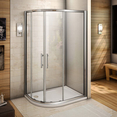 1000x800mm  Quadrant Shower Door Enclosure 6mm Toughen Glass Corner Cubicle SIM