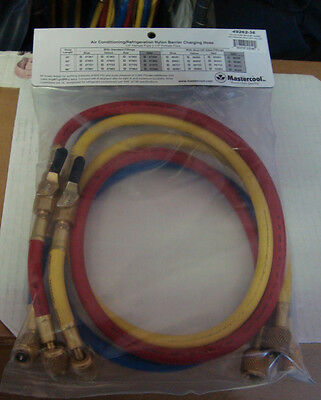 Mastercool 49262-36 AC 3FT Hose set With Valves W800 B4000psi R-410A made in USA