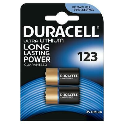 2 x Duracell CR123A Lithiumbatterie CR123 CR 123 123A BLISTERVERPACKT