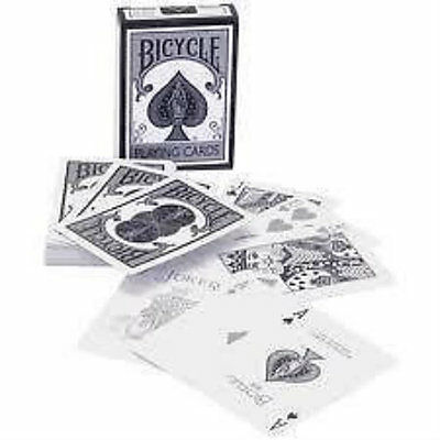 Bicycle Playing Cards - New Fashion - Silver and White Deck