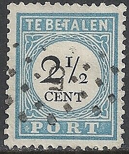 Netherlands 1881 NVPH Due 5Bfe Plate Error  CANC  VF