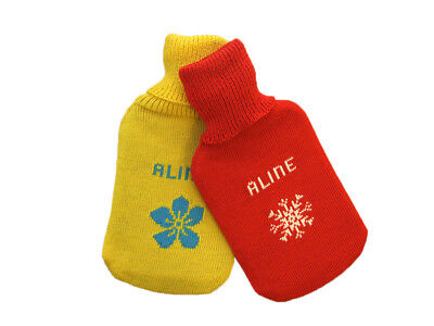 Personalized Hot-Water Bottle MERINO WOOL hotty knitted Valentine Christmas gift