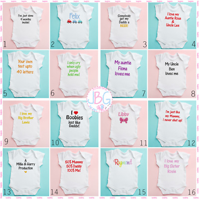 New Funny Personalised Baby/Toddler Vest, Great Newborn Gift - Bodysuit/Grow