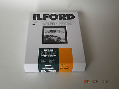 ILFORD MGIV RC DELUXE 5X7 SATIN 100 DARKROOM PAPER **FREE 1st UK P&P**