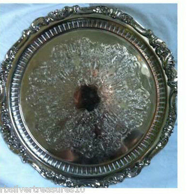 Wallace Baroque Silver Plate Tray #296