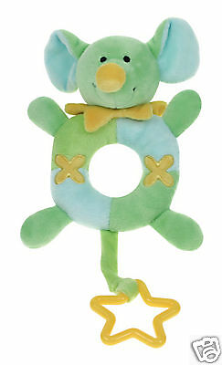 *brand New Baby Safe Soft Plush Toy Rattle Teether Gift