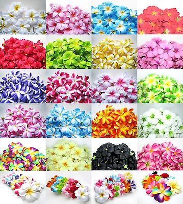 "(100pcs) 3"" Silk Hawaiian Plumeria/Frangipani Orchids - Artificial Flower Heads"