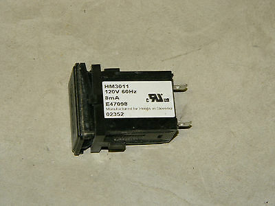 Used Elapsed Time Counter Hour Meter 110V Used 1,000's available w/ Holder