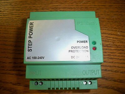 Phoenix Contact STEP-PS-100-240AC/24DC/1.5 Step Power Supply Used