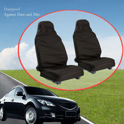 2 Fronts Honda Civic Mk8 2006 ON Heavy Duty Black Waterproof Car Seat Covers