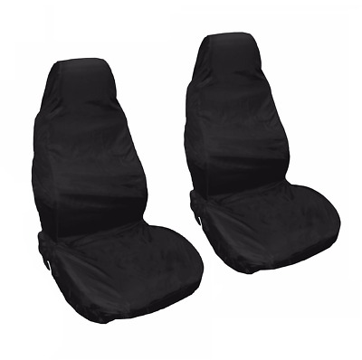 VAUXHALL VECTRA 95-06 Black Front Waterproof Nylon Car Seat Covers Protectors