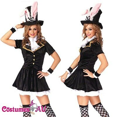 CA868 Ladies Easter Bunny Hare Rabbit Headband Vest Holiday Dress Up Costume Kit
