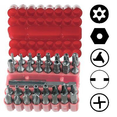 33pc Security Bit Set Tamper Proof - Torx Hex Star Screwdriver US FAST SHIPPING