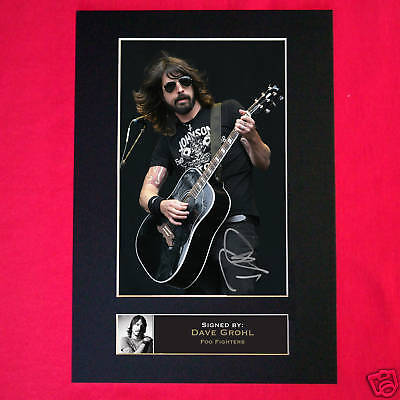 DAVE GROHL Foo Fighters Autograph Mounted Photo Repro A4 Print 77