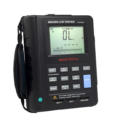 MASTECH MS5308 Auto Ranging Handheld Portable LCR Meter 100K Hz RS232