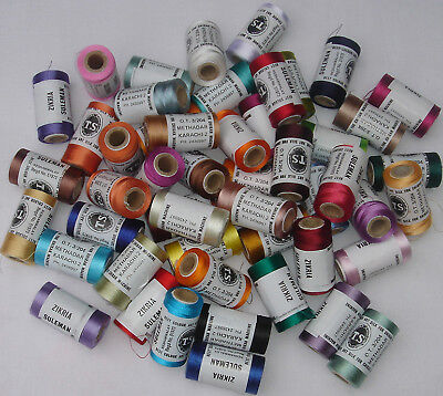 24 Rayon Machine Embroidery Thread Spools, 500m Each