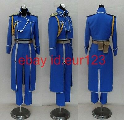 FullMetal Alchemist Roy Uniform Cosplay Costume Custom