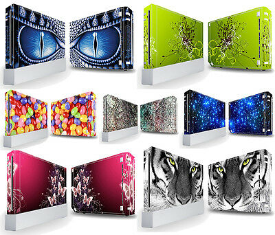 TaylorHe Nintendo Wii Vinyl Decal Skin Protective Sticker *OVER 50 DESIGNS*