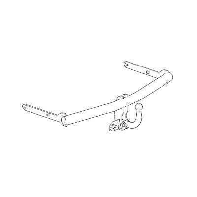 Westfalia Towbar for Volkswagen Touran 2003-2015 - Swan Neck Tow Bar