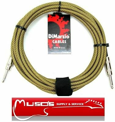DiMarzio American 10' pro guitar Belden cable $49 Tweed