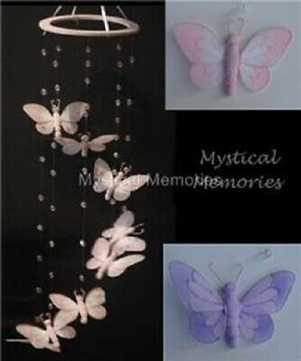 Pretty Butterfly Spiral Mobile Nursery Decor - PURPLE