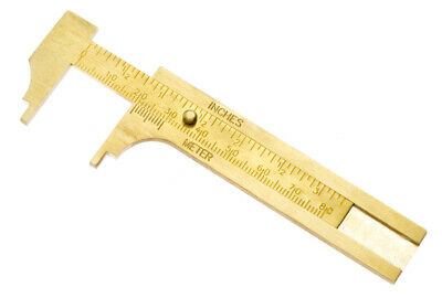 """New 3"""" (80mm) Solid Brass Vernier Caliper SAE & Metric #786BC US FAST SHIPPING"""