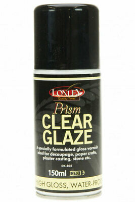 Prism Glaze - 250ml Tin - Gloss Varnish Ideal for Decoupage, Concrete, Plaster