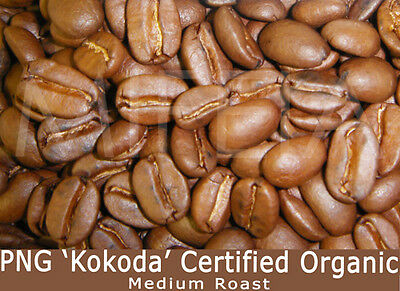 PNG 'KOKODA' Organic A Medium-Roast Coffee Beans 1 Kg