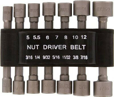 New 14pc Hex Shank Power Nut Driver Set - SAE & MM US FAST FREE SHIPPING