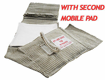 "Military 6"" Inch Israeli Bandage w/2nd Mobile Pad IFAK EMT Emergency Dressing Im"
