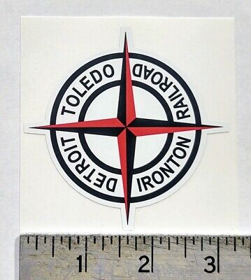 "Vintage Railroad Detroit Toledo Ironton sticker decal 3.2""x3.2"""