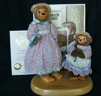 """RAIKES BEARS Mother's Day 1991 """"LUCILLE & DAPHNE"""" by Applause  COA  New in Box"""
