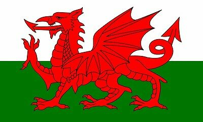 Wales Welsh Large Dragon Flag 5X3Ft 5'x3' New Packed Eyelets For Hanging