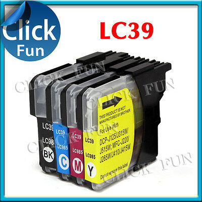 5 x INK for BROTHER LC39 LC985 DCP J125 J315W J515W MFC 220 J265W J410 MFC J415W