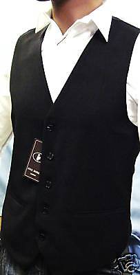 "New Black Waistcoat Superb High Street Quality X-Large(44"" Chest)"