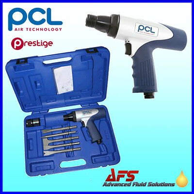 Genuine PCL AIr Hammer & Chisel Tool Set Kit APP500SET Pneumatic Cold Chisels UK