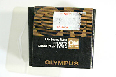 OLYMPUS OM Electronic Flash TTL AUTO CONNECTOR - TYPE 3 - OM SYSTEM