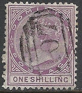 Dominica stamps 1874 SG 2  P. 12 1/2  CANC  VF