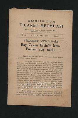 Turkey Smyrne Izmir Tobacco  Exports Booklet 1939 Tables Statistiques