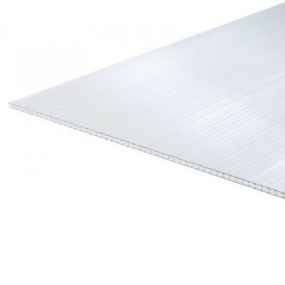4mm Greenhouse Polycarbonate Sheet Panels Clear Replacement Pack of 10