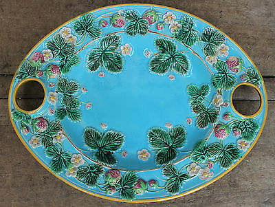 Victorian George Jones Majolica Strawberry dish c.1870