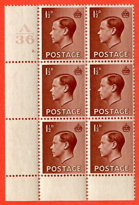 SG. 459. P3. 1½d Red-brown. Control A36 Cylinder 2 dot.