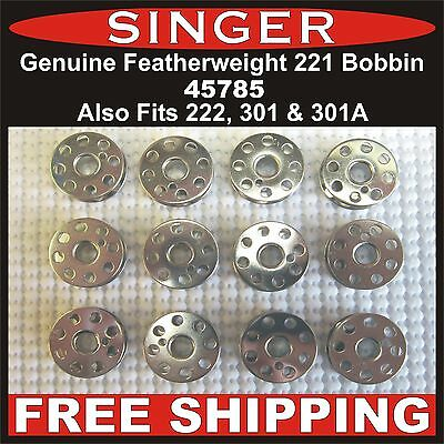 GENUINE SINGER Featherweight Bobbin Fits 221, 222 & 301, 301A FREE SHIPPING!!!
