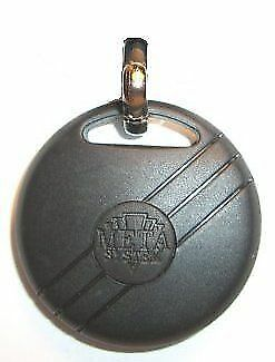 Meta Car Bike Alarm Remote Fob Round Key Case Shell New