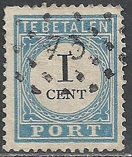 Netherlands stamps 1881 NVPH Due 3fcD ERROR  CANC  VF