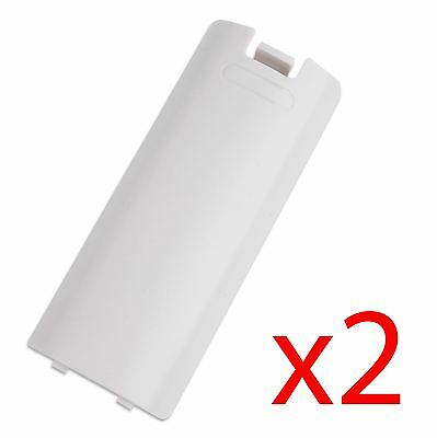 Hellfire Trading 2x White Battery Wireless Controller Back Cover for Wii Remote