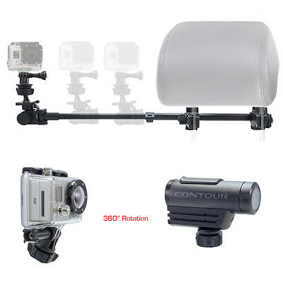 ChargerCity Telescopic Headrest Mount for Gopro Hero5 Hero4 Session Hero 5 4 3+