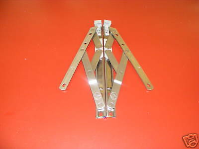 """1 x Pair 10"""" Top Hung Upvc Window Hinges Friction Stays 13mm Stack (13-TRT10)"""