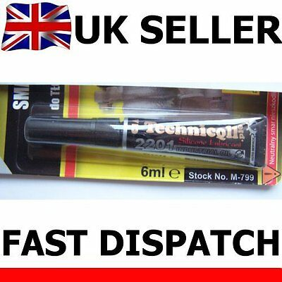 6ml SILICONE PTFE LUBRICANT GREASE FOR BRAKE PISTONS VALVES TAPS JOINTS GASKETS