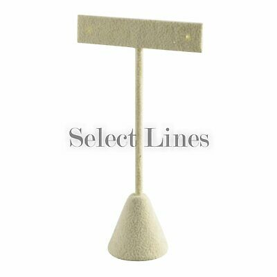 """Beige Suede T-Bar Earring Jewelry Display Stand 6-3/4"""""""